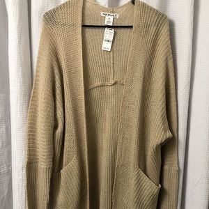 Say What tan knitted cardigan